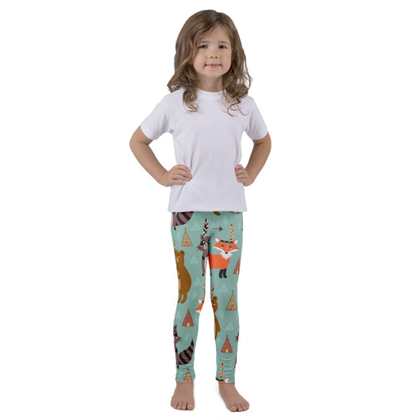Fox, Racoon, Bears . -Kid's leggings