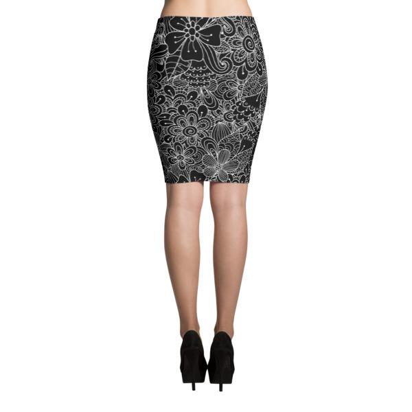 Flowers – Pencil Skirt