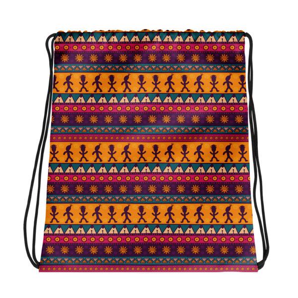 Pattern Ocher – Drawstring bag