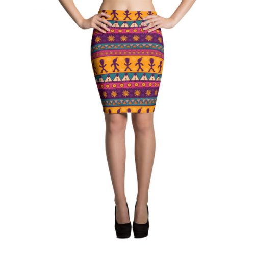 Pattern Ocher – Pencil Skirt