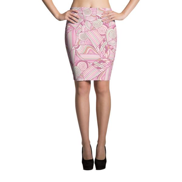 Pattern Pinks – Pencil Skirt