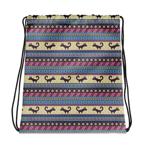 Pattern Purple – Drawstring bag