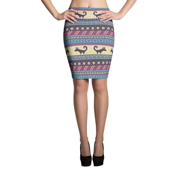 Pattern Purples Ethnic – Pencil Skirt