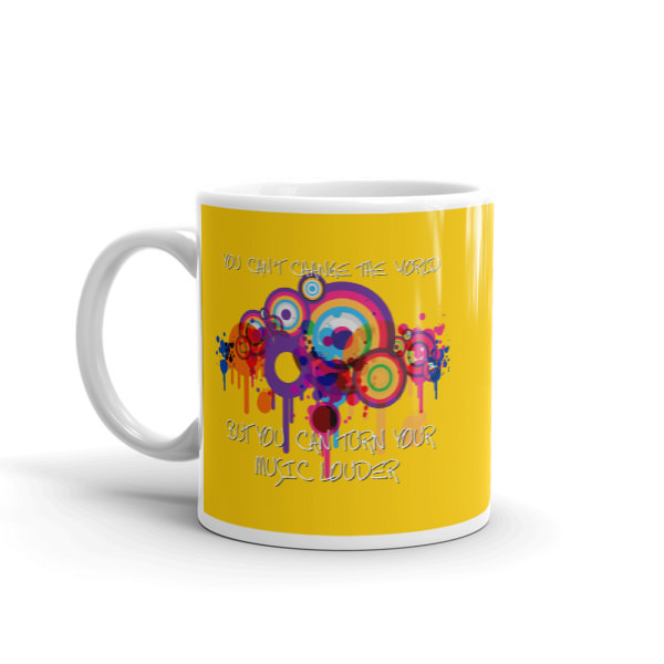 Can't Change The World – Yellow Mug