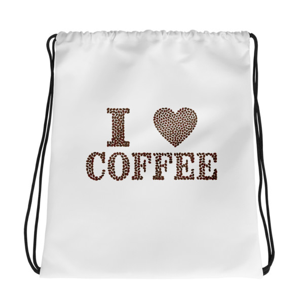 I Love Coffee – Drawstring bag