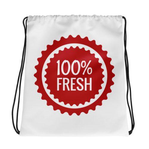 100% Fresh – Drawstring bag