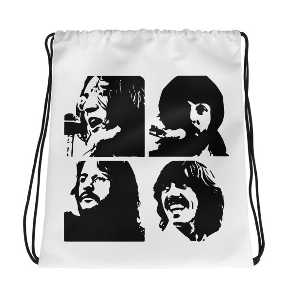 Beatles Black – Drawstring bag