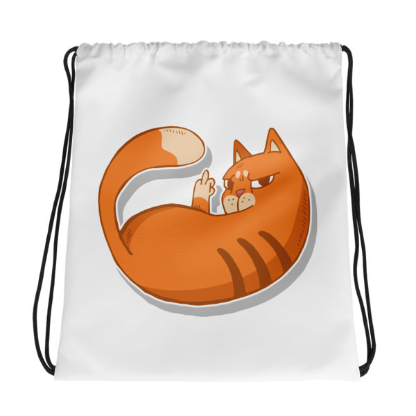 Cat Zap – Drawstring bag