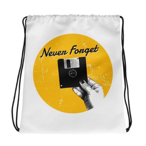 Never Forget – Drawstring bag