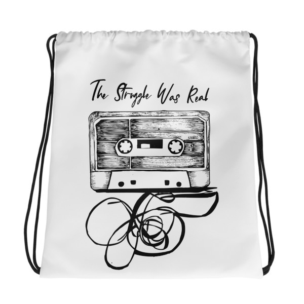 The Struggle was Real – Drawstring bag