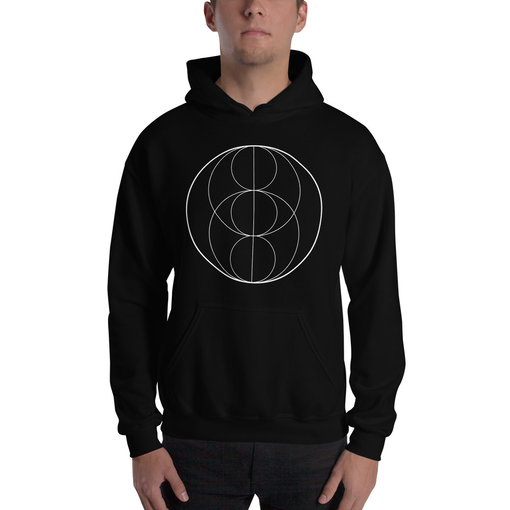Fractals Circles – Hooded Sweatshirt