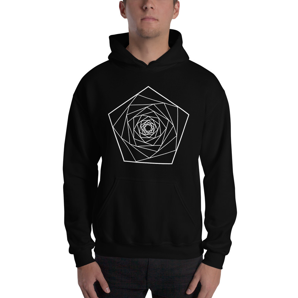 Fractals Penta – Hooded Sweatshirt