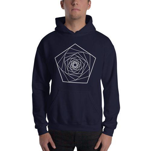 Fractals Penta – Hooded Sweatshirt