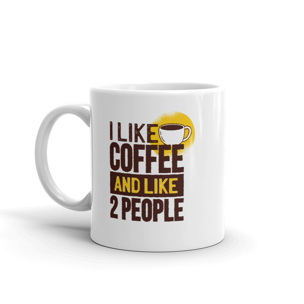 I Like Coffee & 2 People - Mug