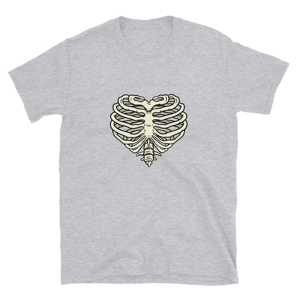 Heart Ribs T-Shirt 7