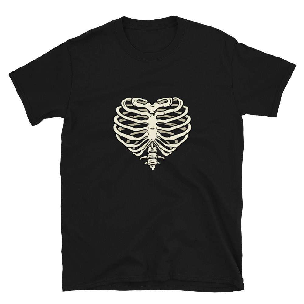 Heart Ribs T-Shirt 4