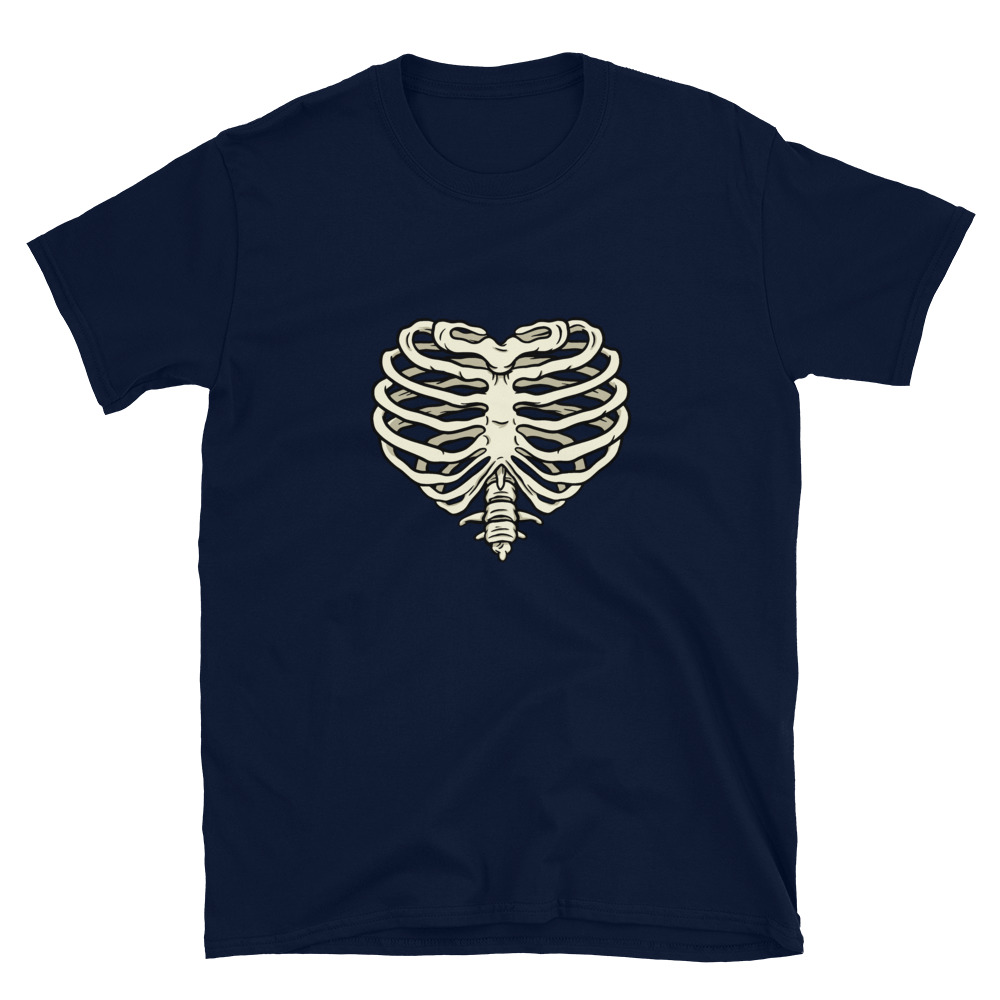Heart Ribs T-Shirt 5