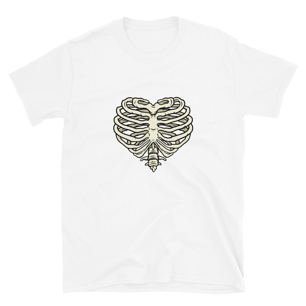 Heart Ribs T-Shirt 3