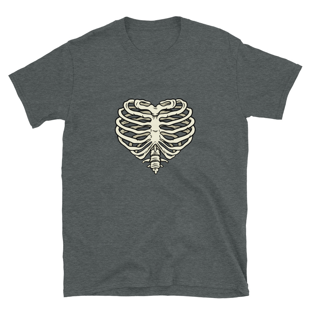 Heart Ribs T-Shirt 6