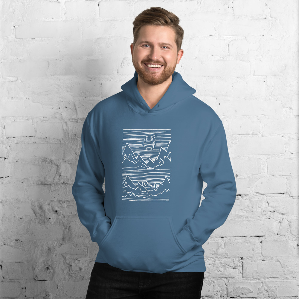Mountains 3D - Hoodie 4